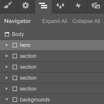 Creating a background scroll interaction in Webflow