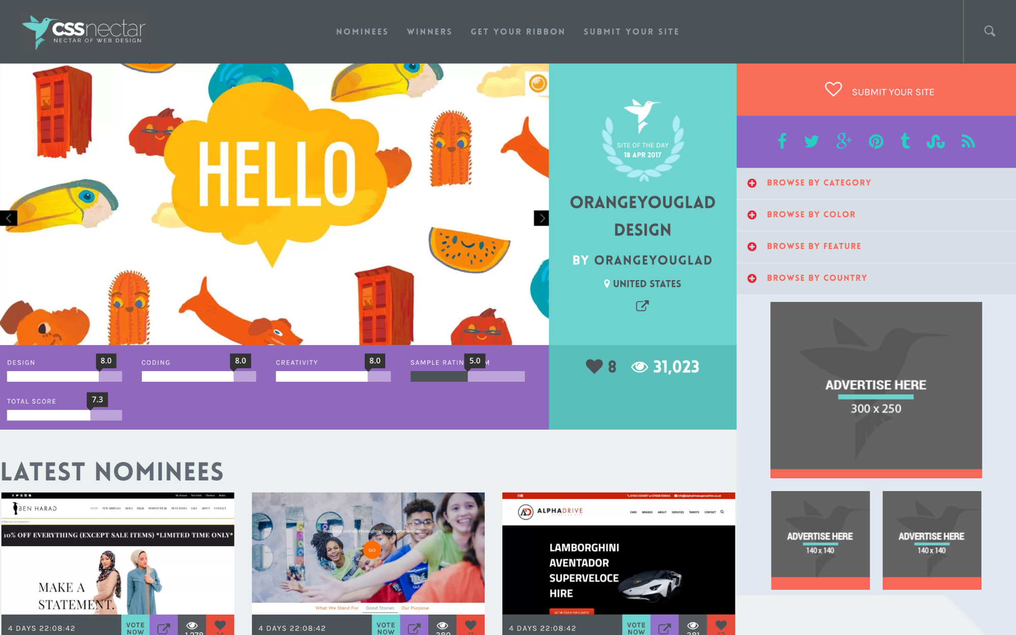 17 amazing sources of web design inspiration webflow blog for Web page architecture