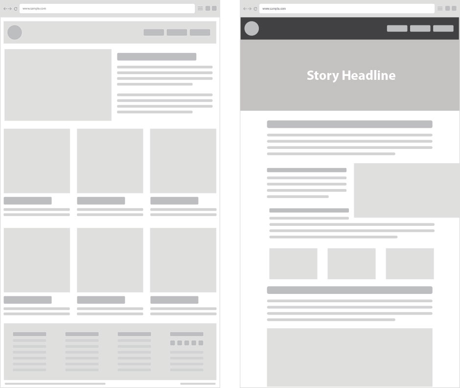 Examples of unique website layouts webflow blog for Magazine storyboard template