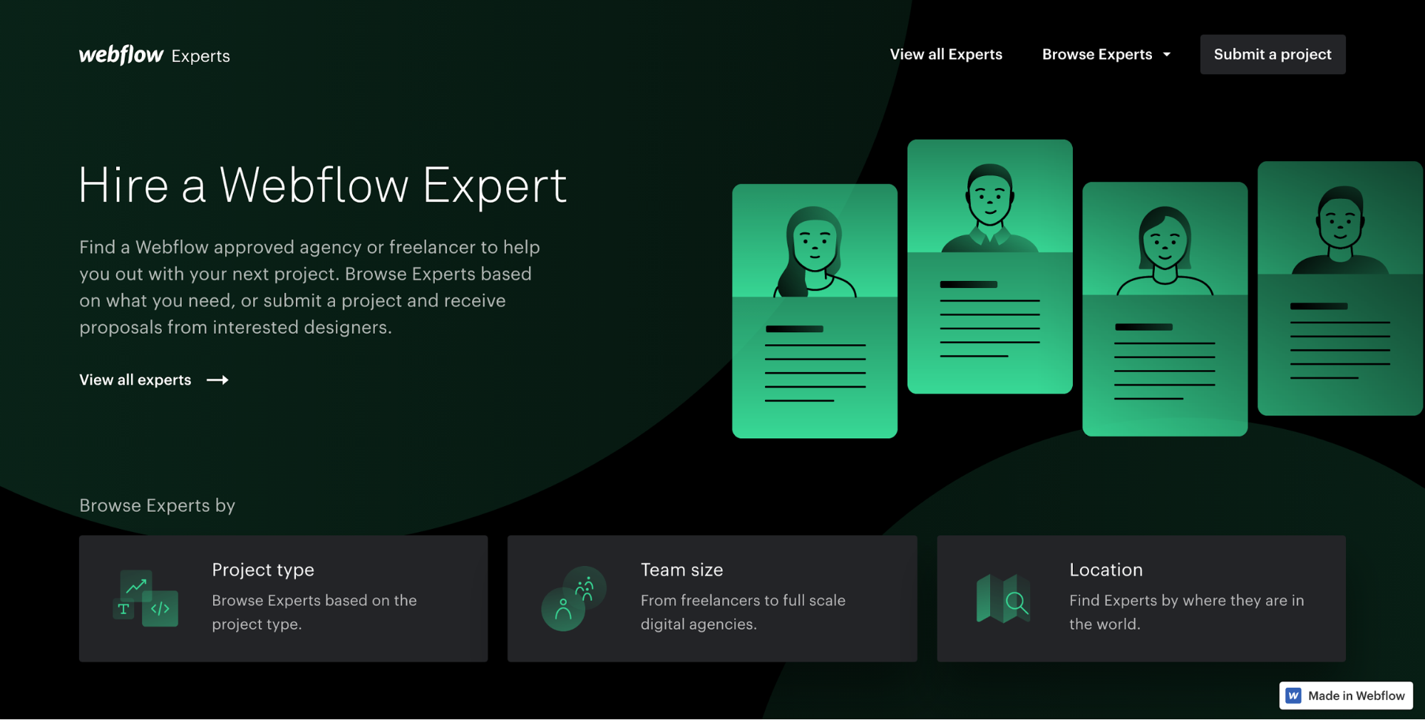 New To The Block Is Webflow Experts, A Freelancer Marketplace Specializing  In Webflowbased Projects Like Toptal, Webflow Experts Has An Application  And
