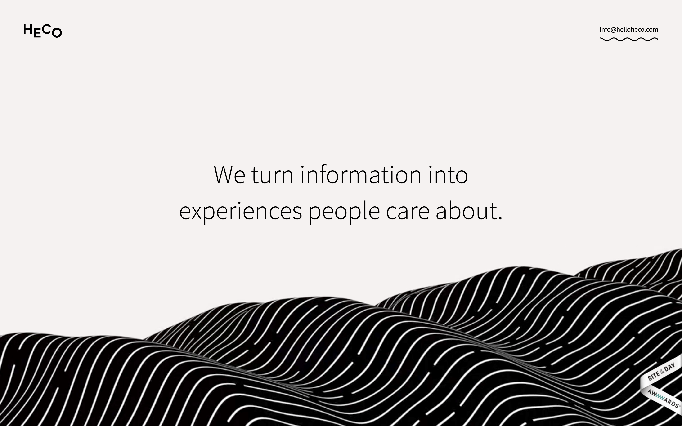 heco partners draws you into their website with its flowing movement