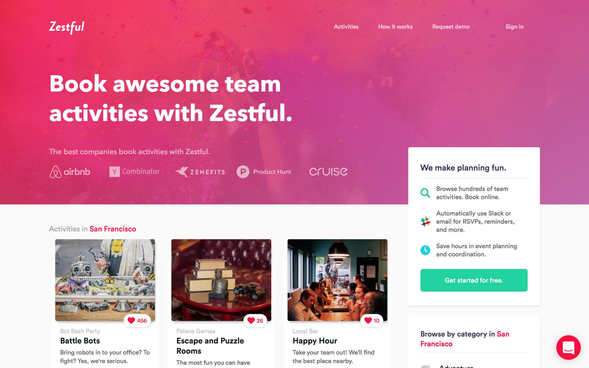 Zestful's homepage
