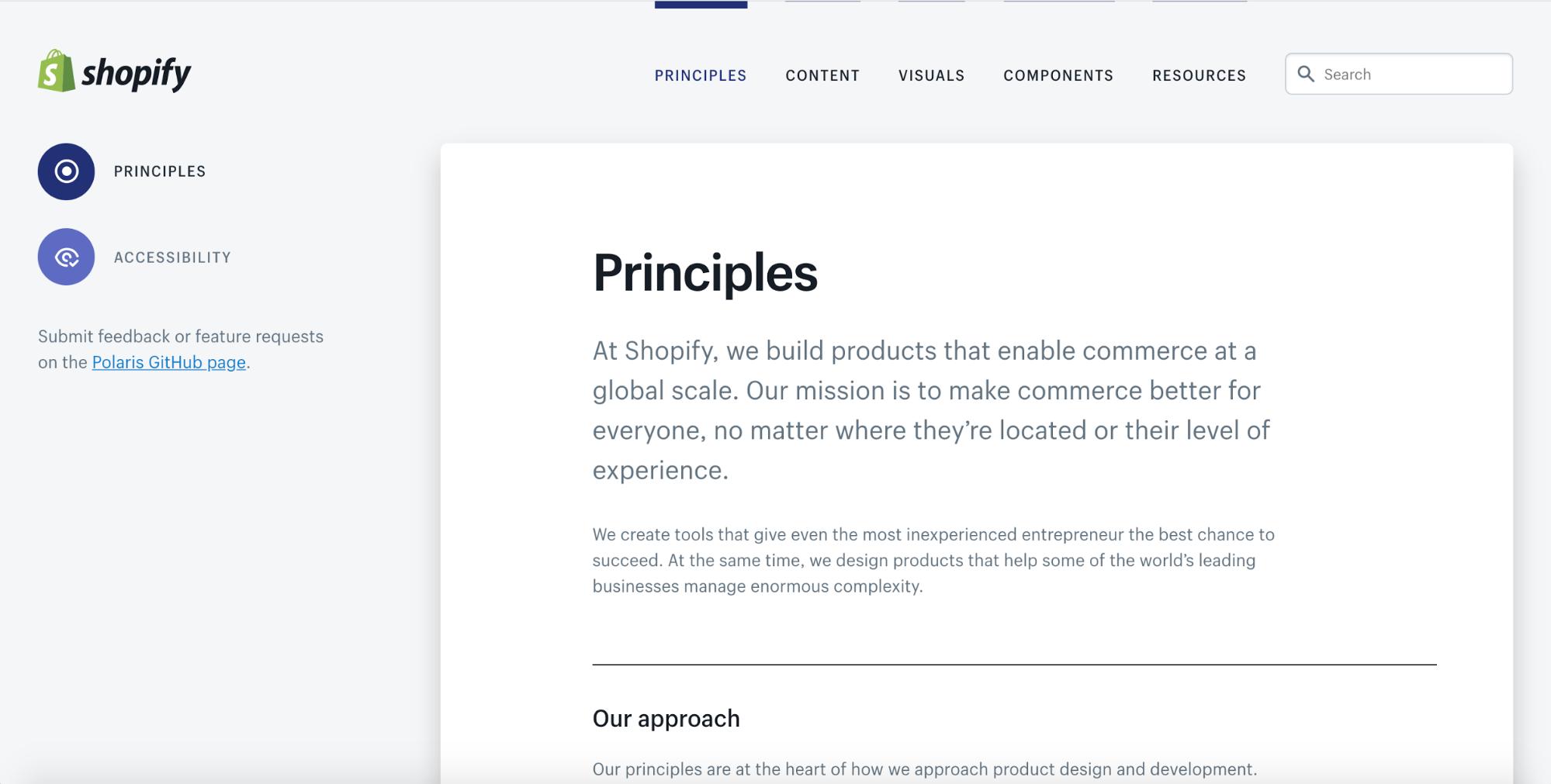 Principles-first design