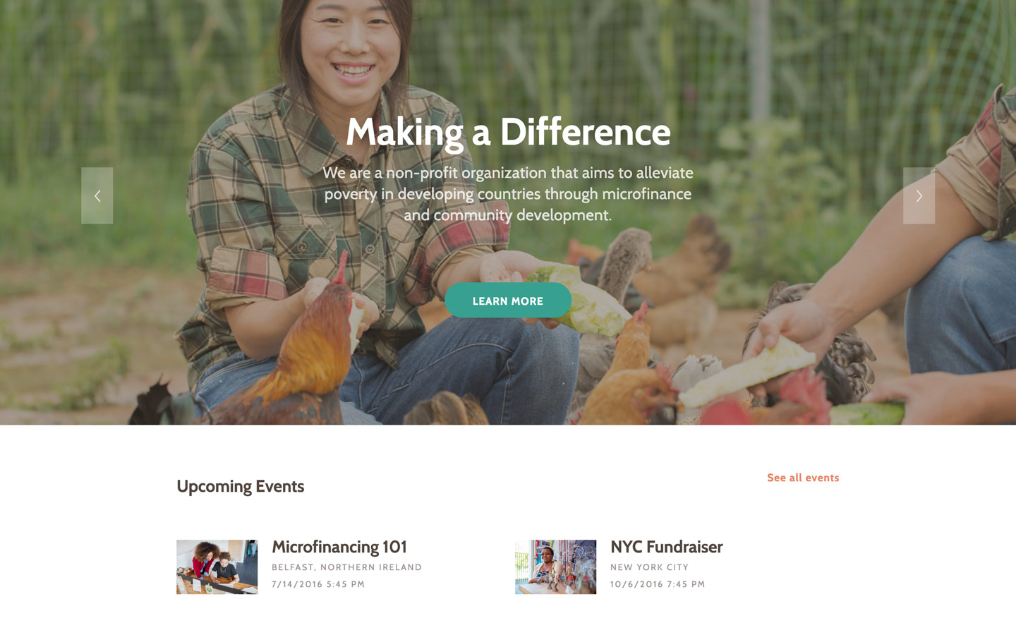 Charity – Nonprofit Website Template