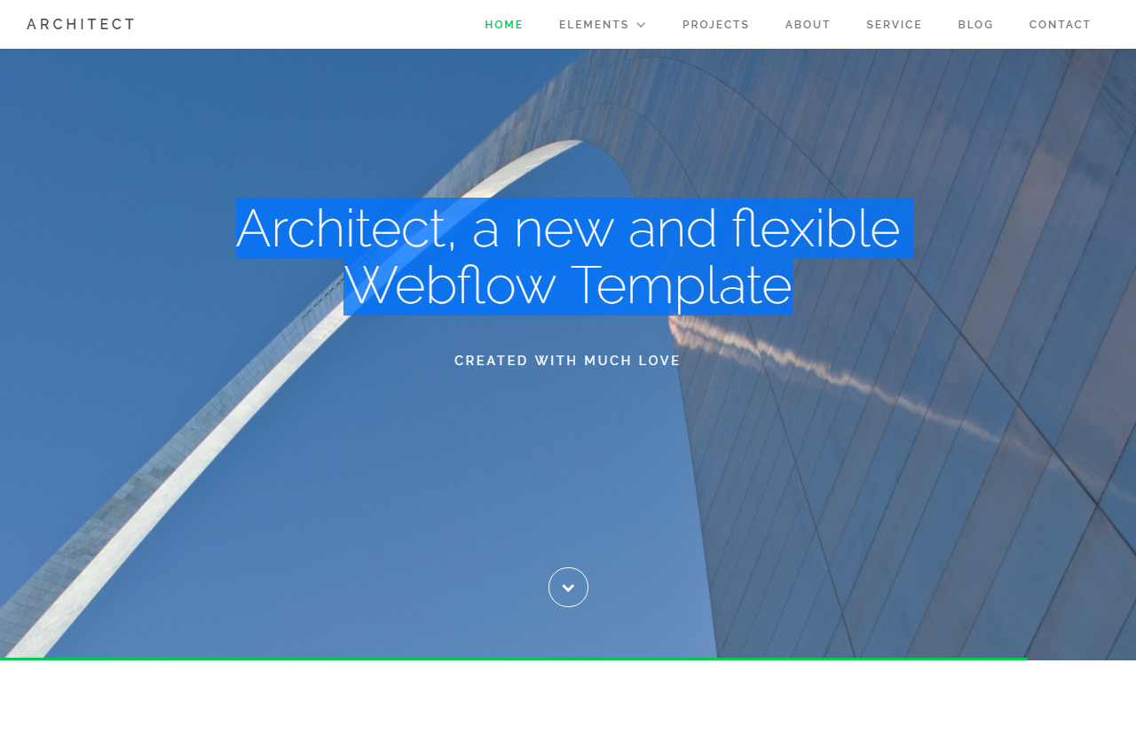 Architect - A new and flexible site