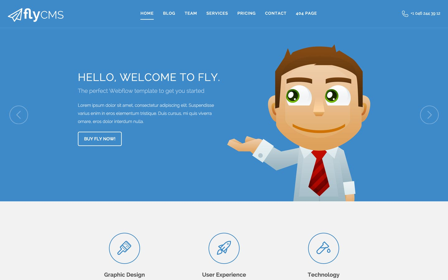 Fly CMS – Corporate Website Template