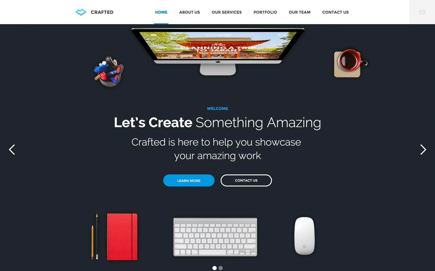 Crafted – Agency Website Template