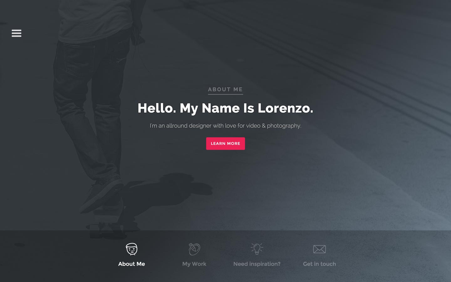 Left Handed – Photography Website Template