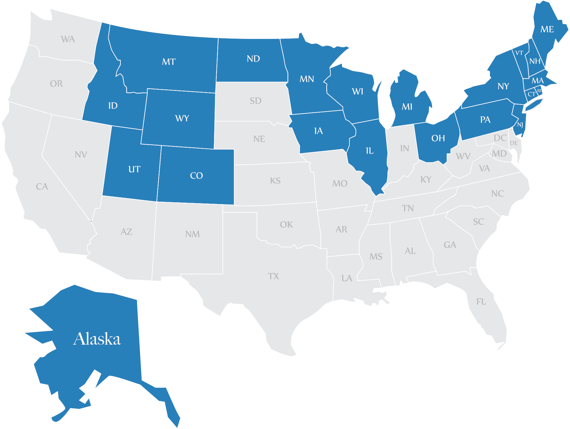 Sled Insure Coverage Map