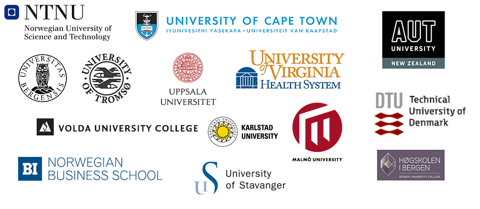 Illustration of multiple university logos