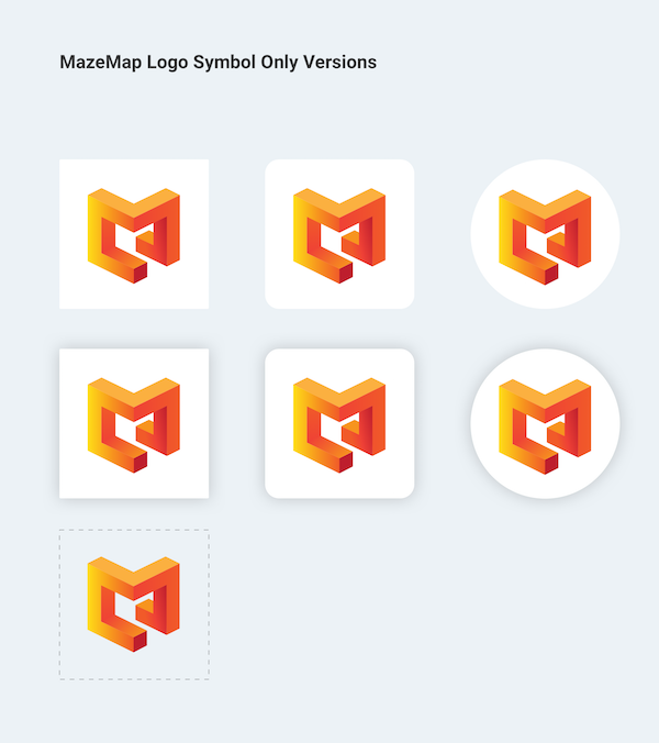 Illustration of MazeMap Logos with symbol only