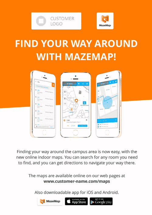 Illustration of MazeMap Logos with symbol and name horizontally aligned