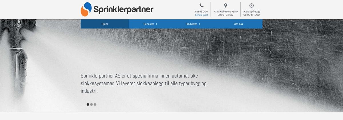 Sprinklerpartner er en komplett leverandør av, og et spesialfirma innen, automatiske slokkesystemer.