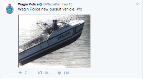 wagin police boating