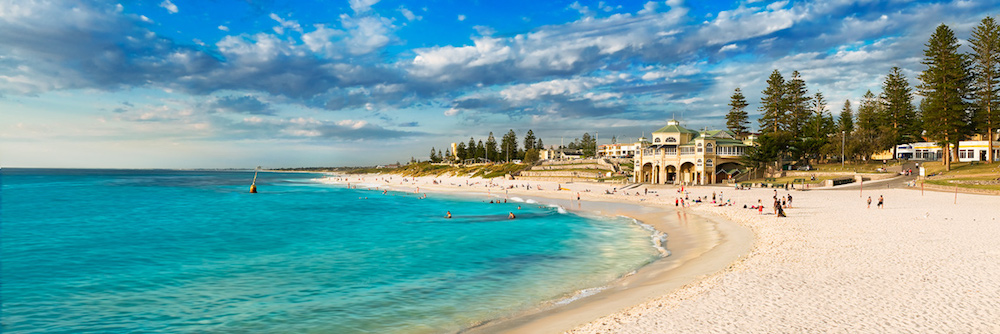 cottesloe beach background portrait