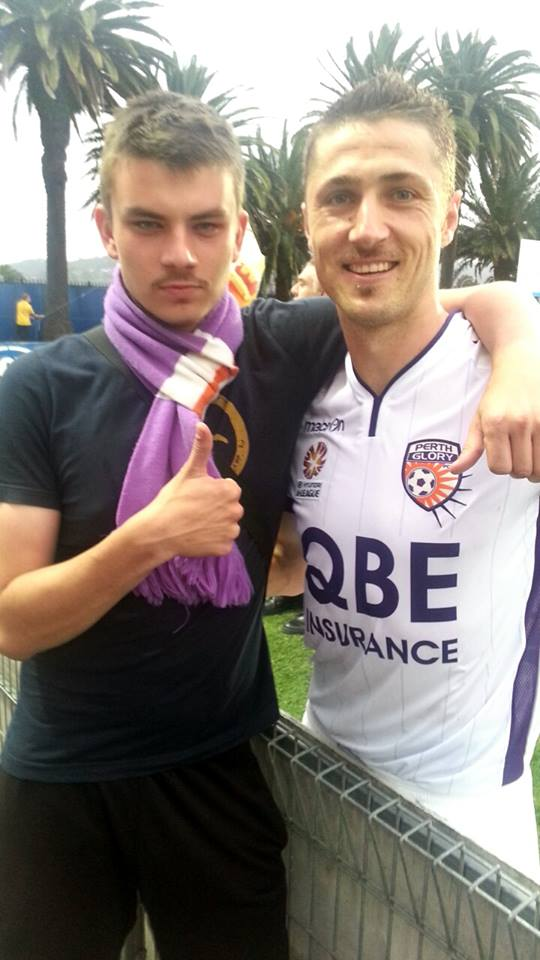 Perth Glory fan and footballer