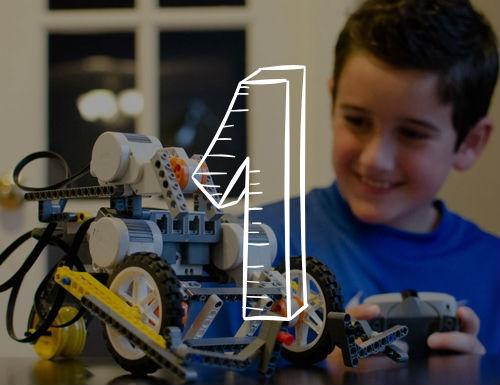 Kid Playing Robot Car