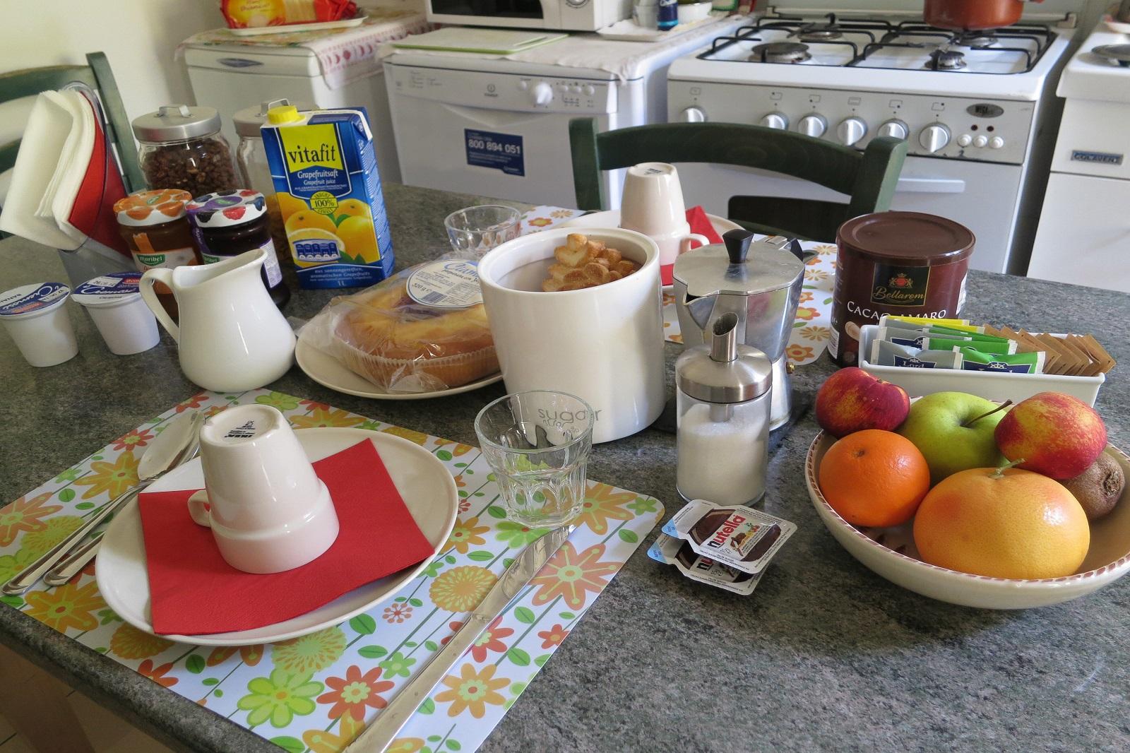 Colazione del Bed and Breakfast nel centro di Bologna