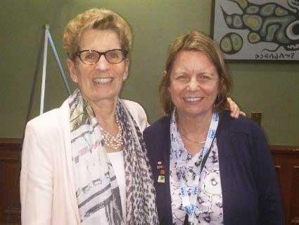 Judith meets Premier Wynne