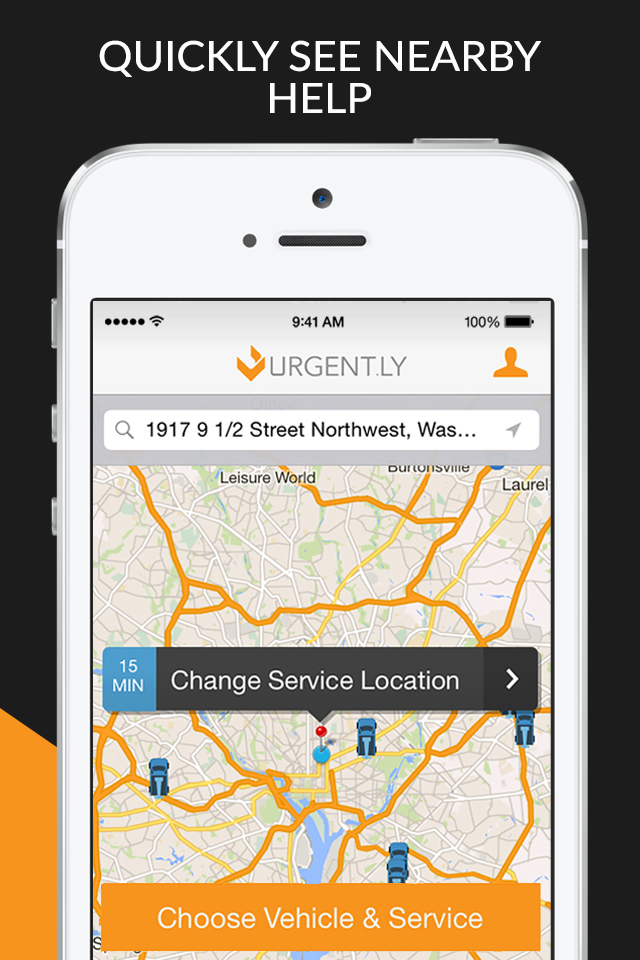 Screenshot of nearby help