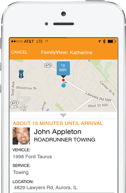 Obtain info on tow truck operator