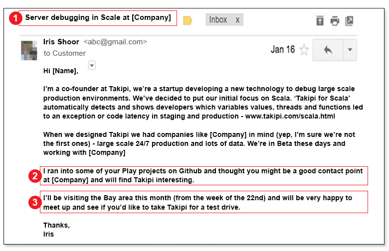 cold email startups