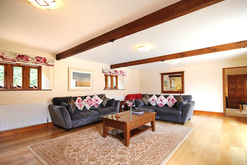 Living area in the Hayshed Cottage