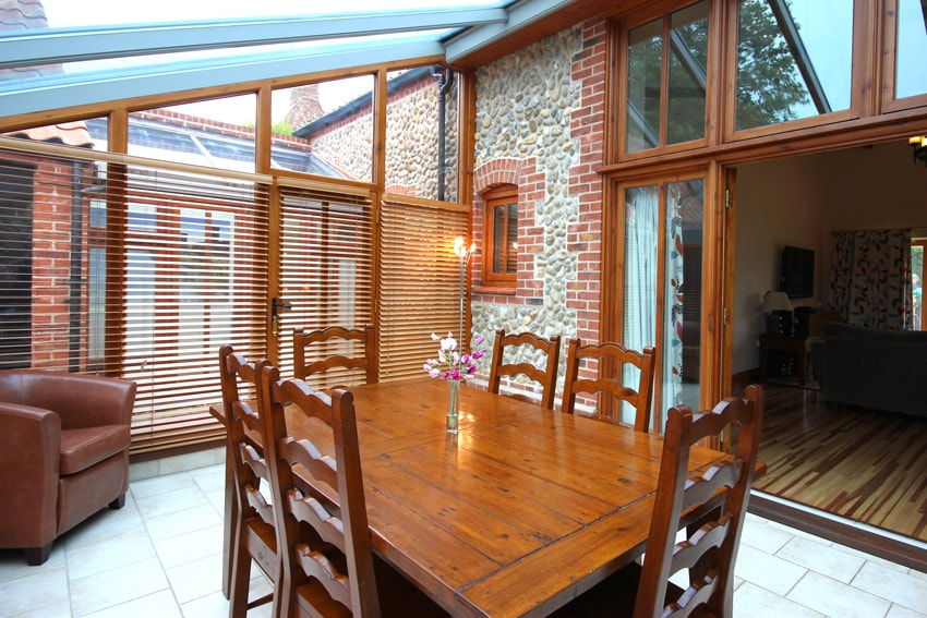 Dining area in Malthouse Holiday Cottage