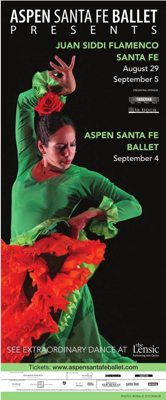 Promo for Aspen Santa Fe Ballet tour in partnership with Juan Siddi Flamenco Santa Fe