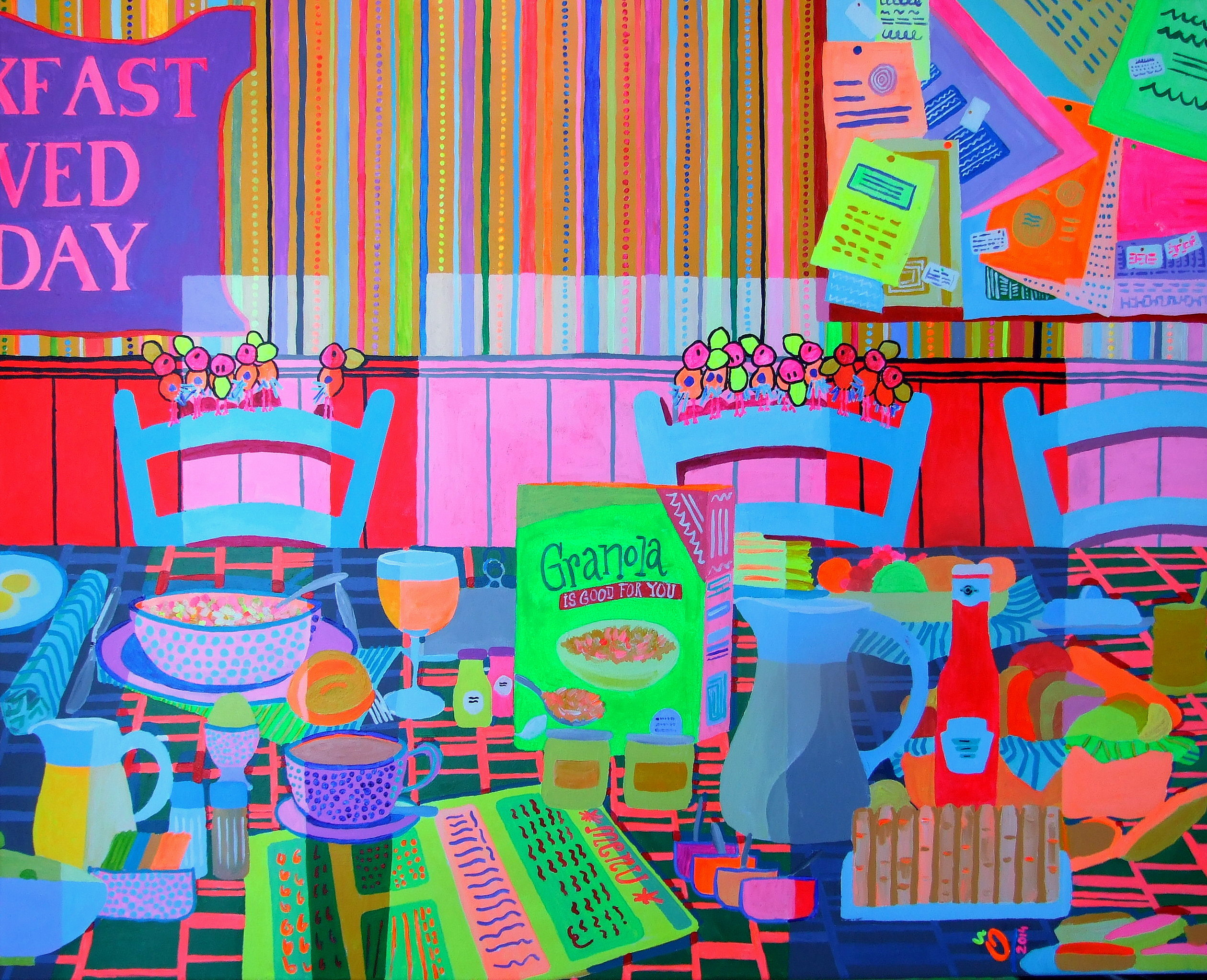 """ALL HAPPINESS DEPENDS ON A LEISURELY BREAKFAST"" 31.5 - 39.4 inch (80 - 100 cm) 