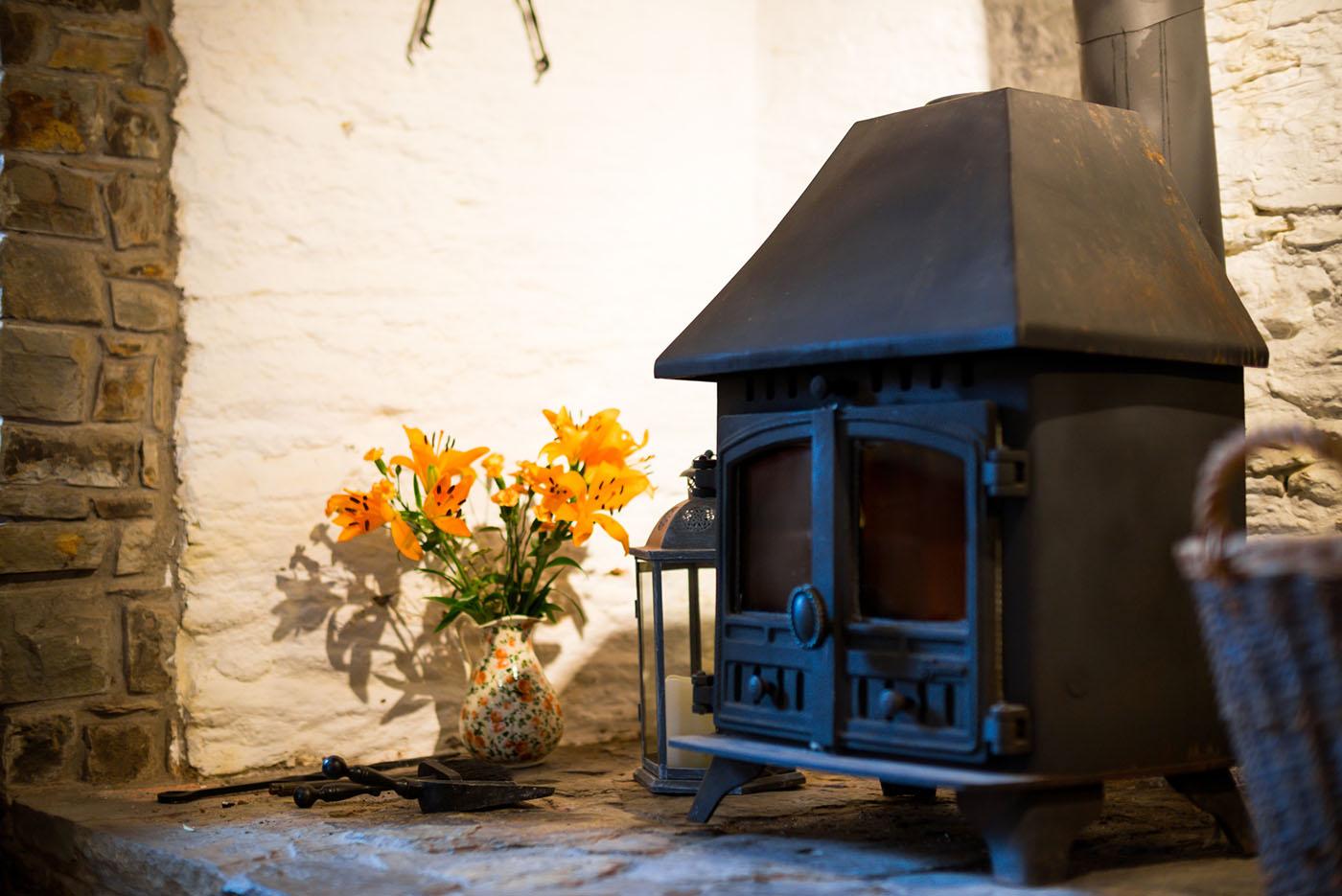 Farmhouse living room fireplace Wheel farm