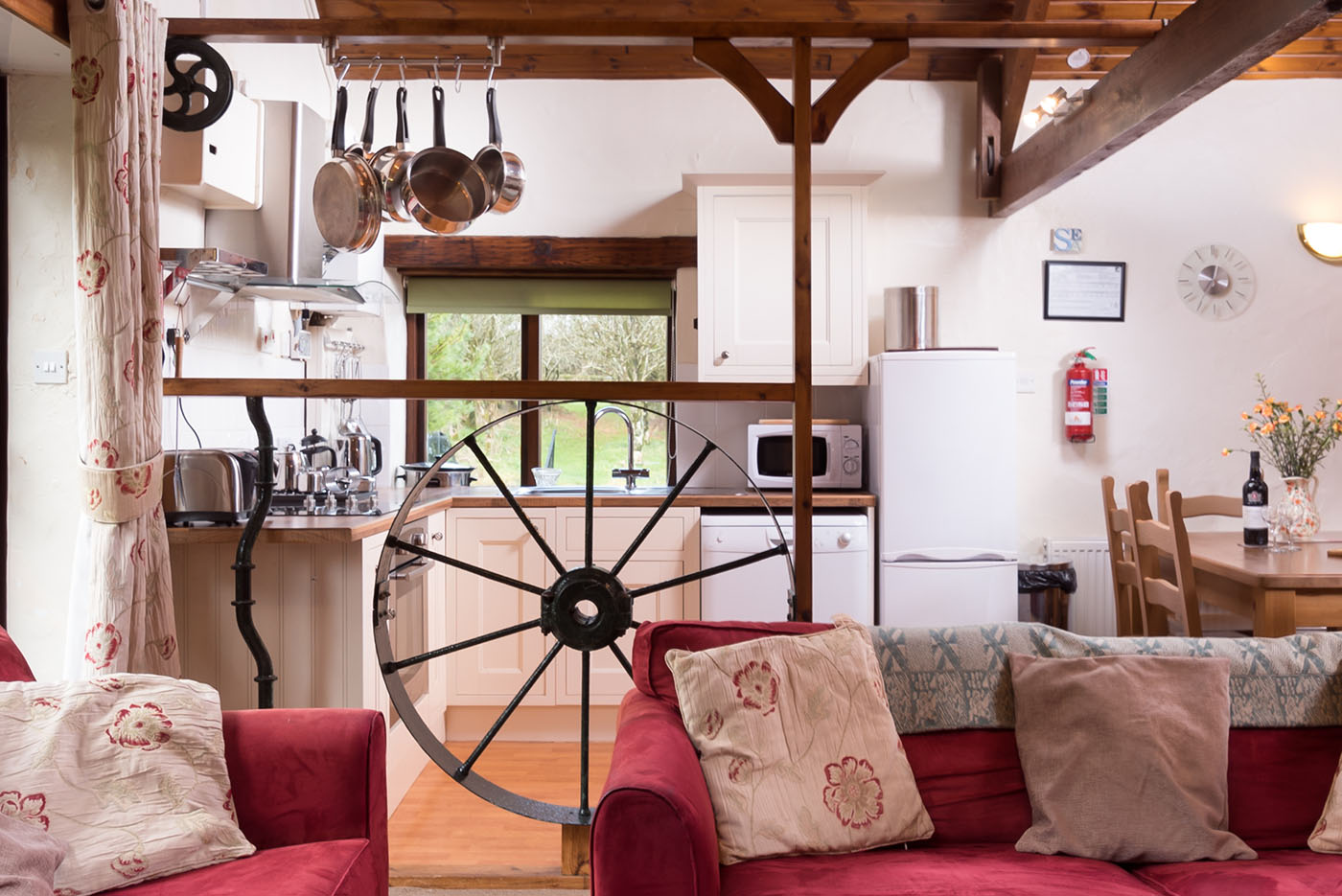 Mill wheel kitchen area