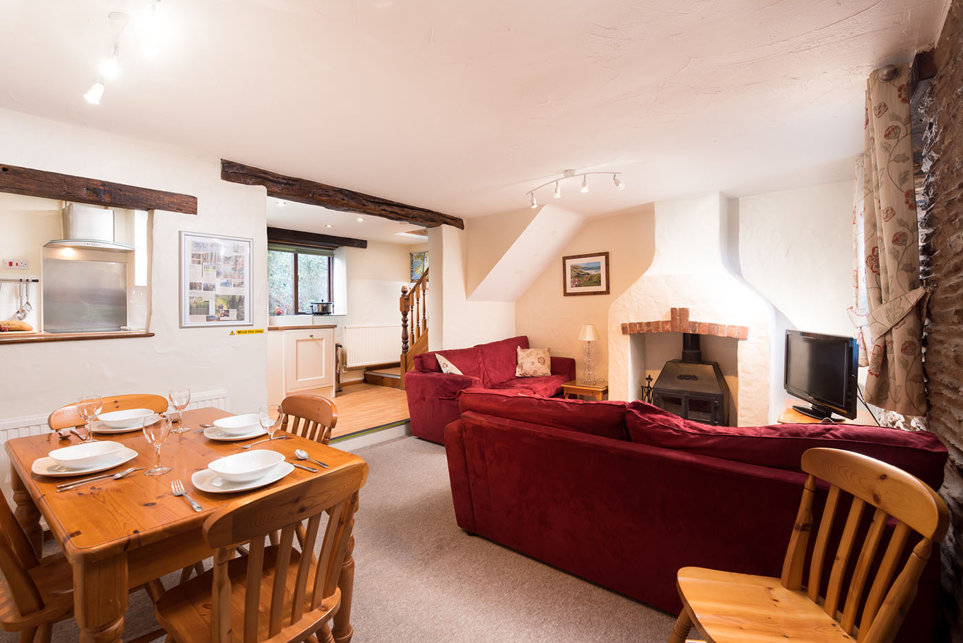 The Byre living and dining area