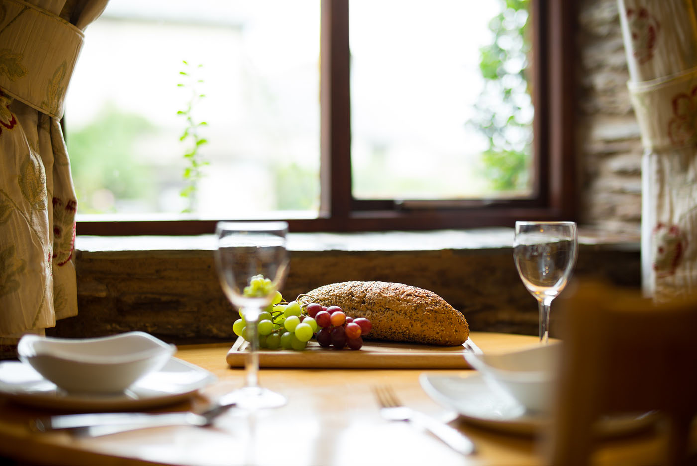 Hayloft dining table and view