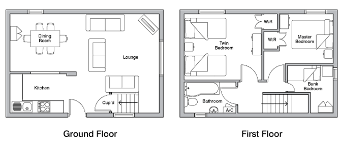 Stable holiday cottage floor plan