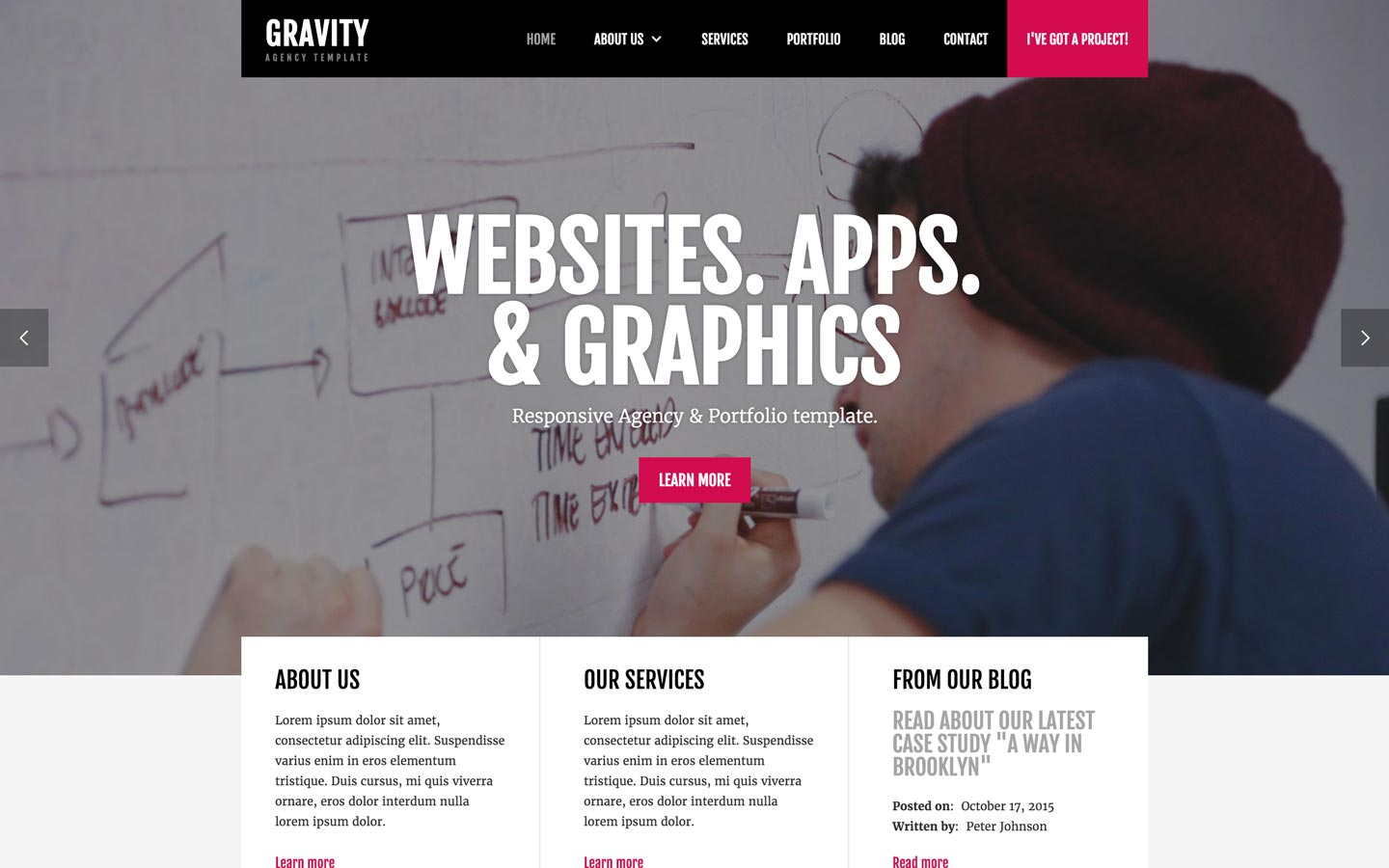 Gravity - Agency HTML5 Responsive Website Template