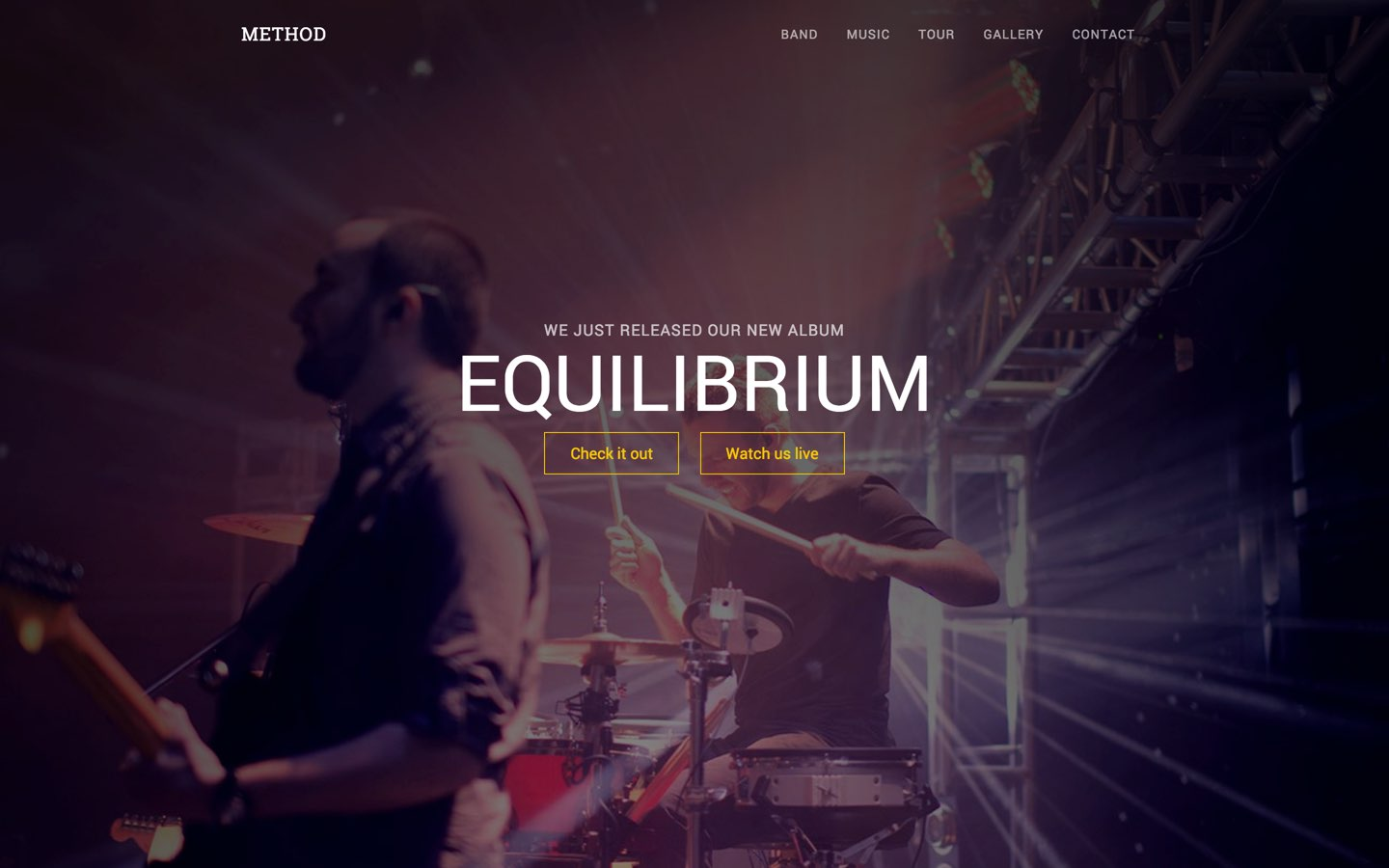 Band Website Templates Available at Webflow