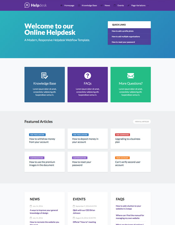 Helpdesk - Documentation HTML5 Responsive Website Template