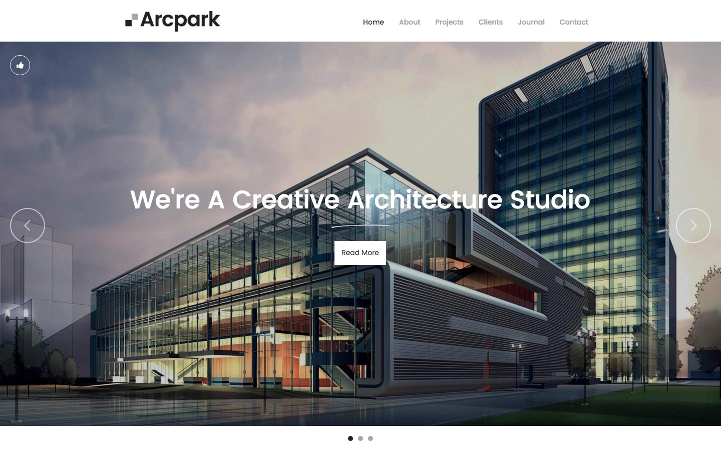 Arcpark architecture html5 responsive website template for Architecture design websites free