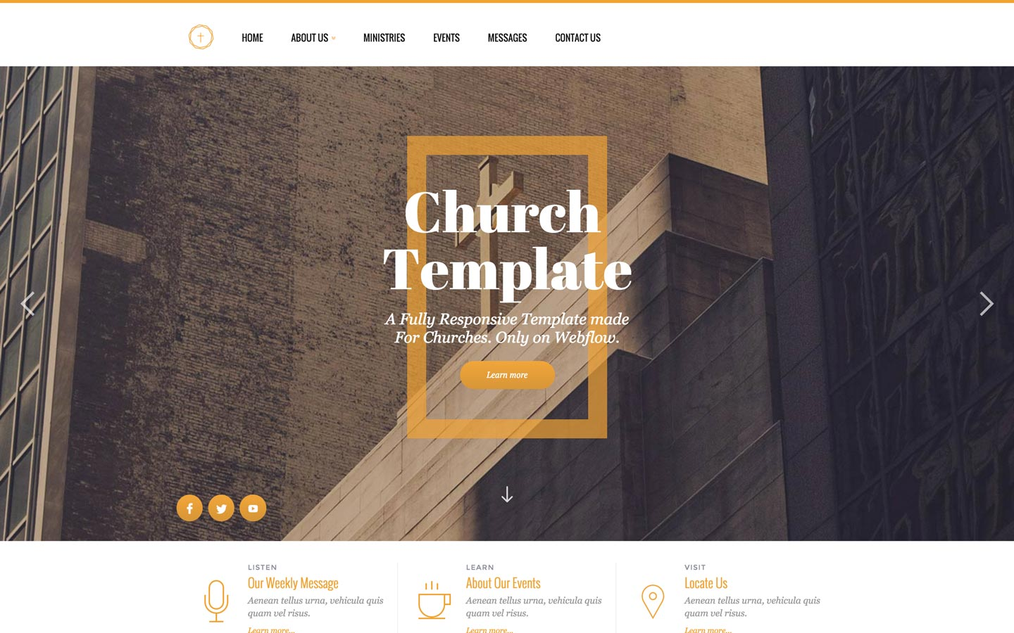 church religion html5 responsive website template