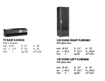 Heritage TV and Curio Technical data