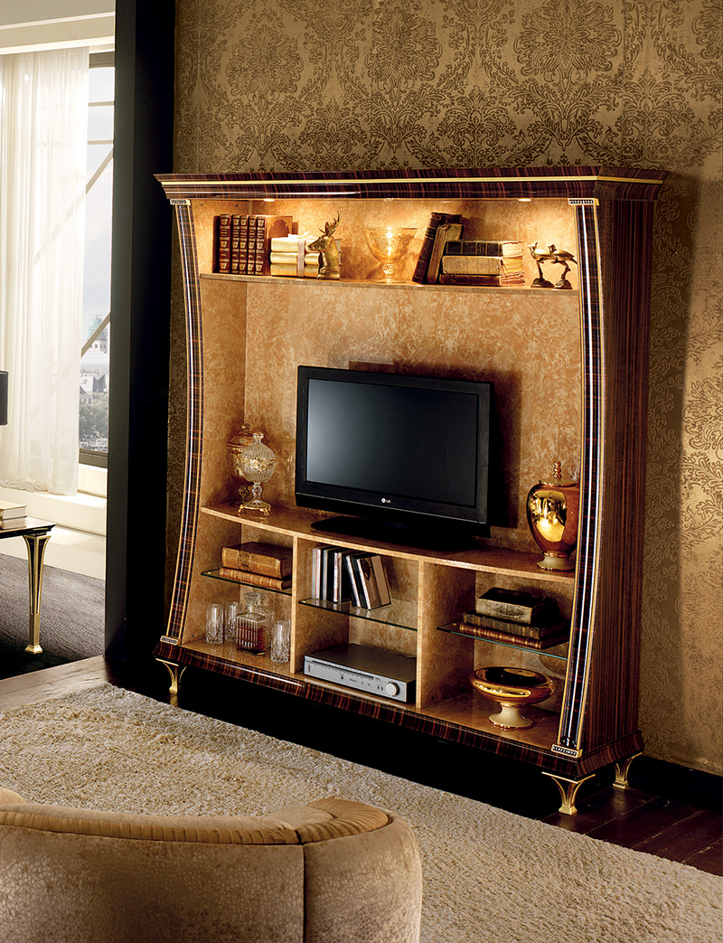 Rossini Living room  corner sofa with wall unit 2