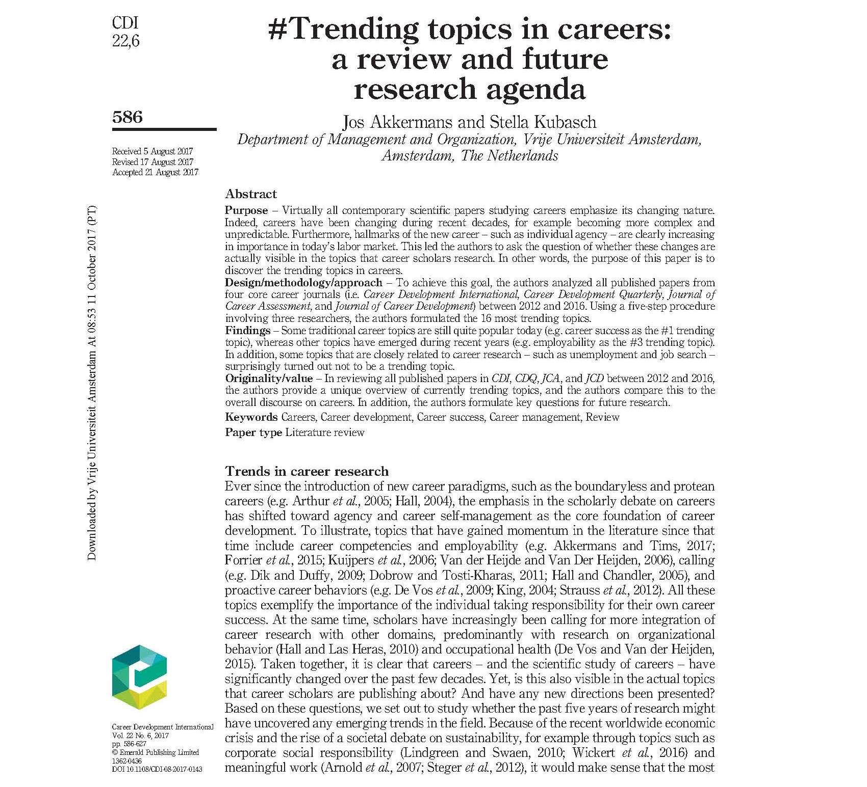 career development research paper
