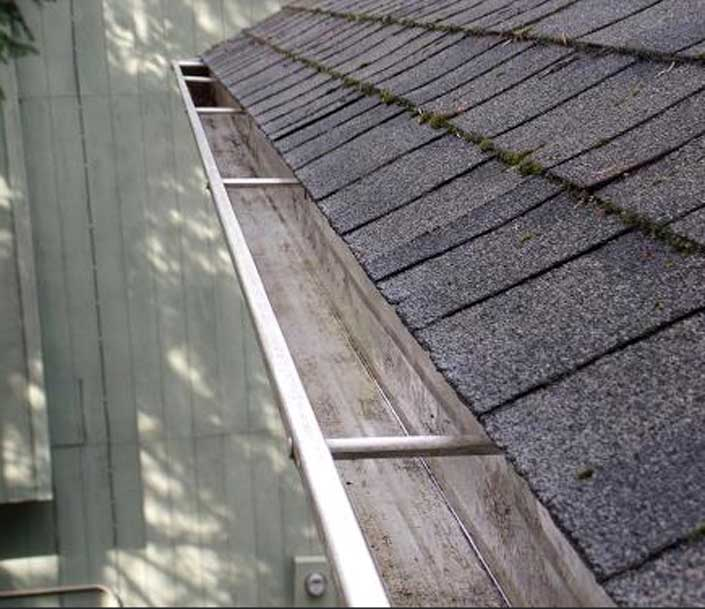Gutter after Gem gutter cleaning service