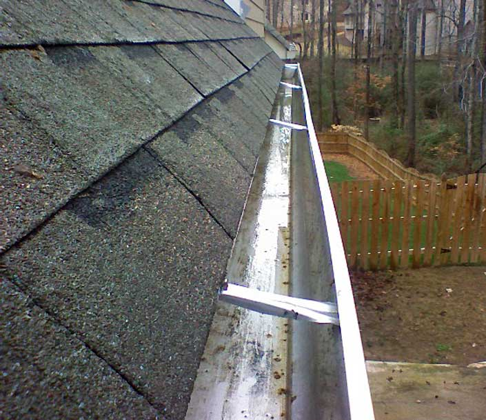 Gutter in Princeton NJ after Gem gutter cleaning service