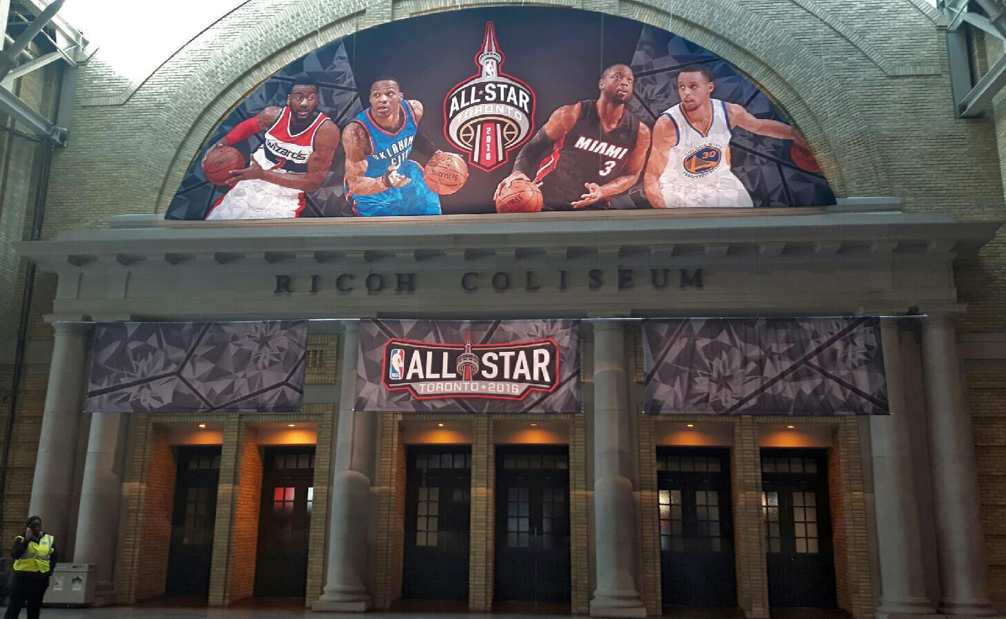photo of NBA Hanging Structure  Installed