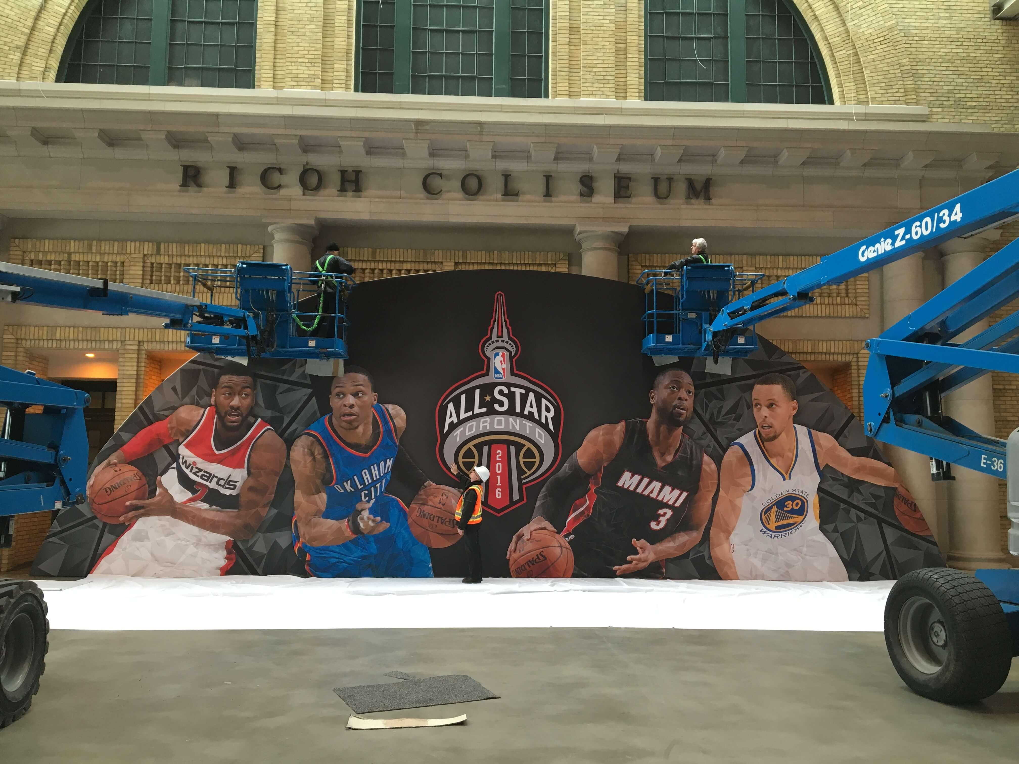 photo of NBA Hanging Structure  Intsallation