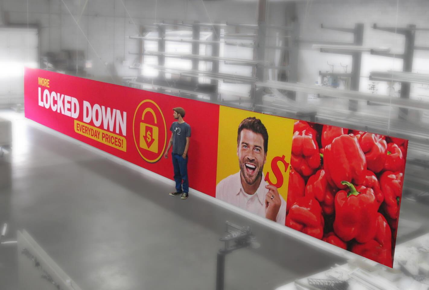 photo of  Food Basics Giant Hanging Sign