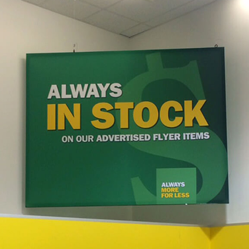 Photo of Food Basics - 46mm SEG Double Sided Corner Sign