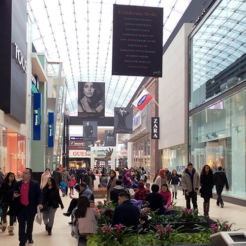 Photo of Yorkdale Mall 46mm SEG Hanging Signs